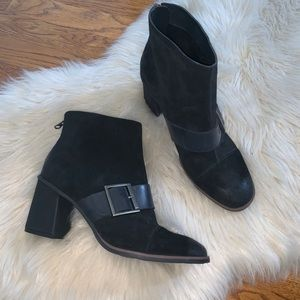 Kork ease black leather suede denoon boots 8.5